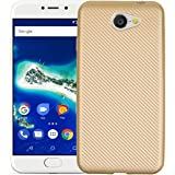 YHUISEN Slim Carbon Fiber Rubber TPU Custodia ibrida copertura antiurto per Google Android One General Mobile GM6 ( Color : Gold )
