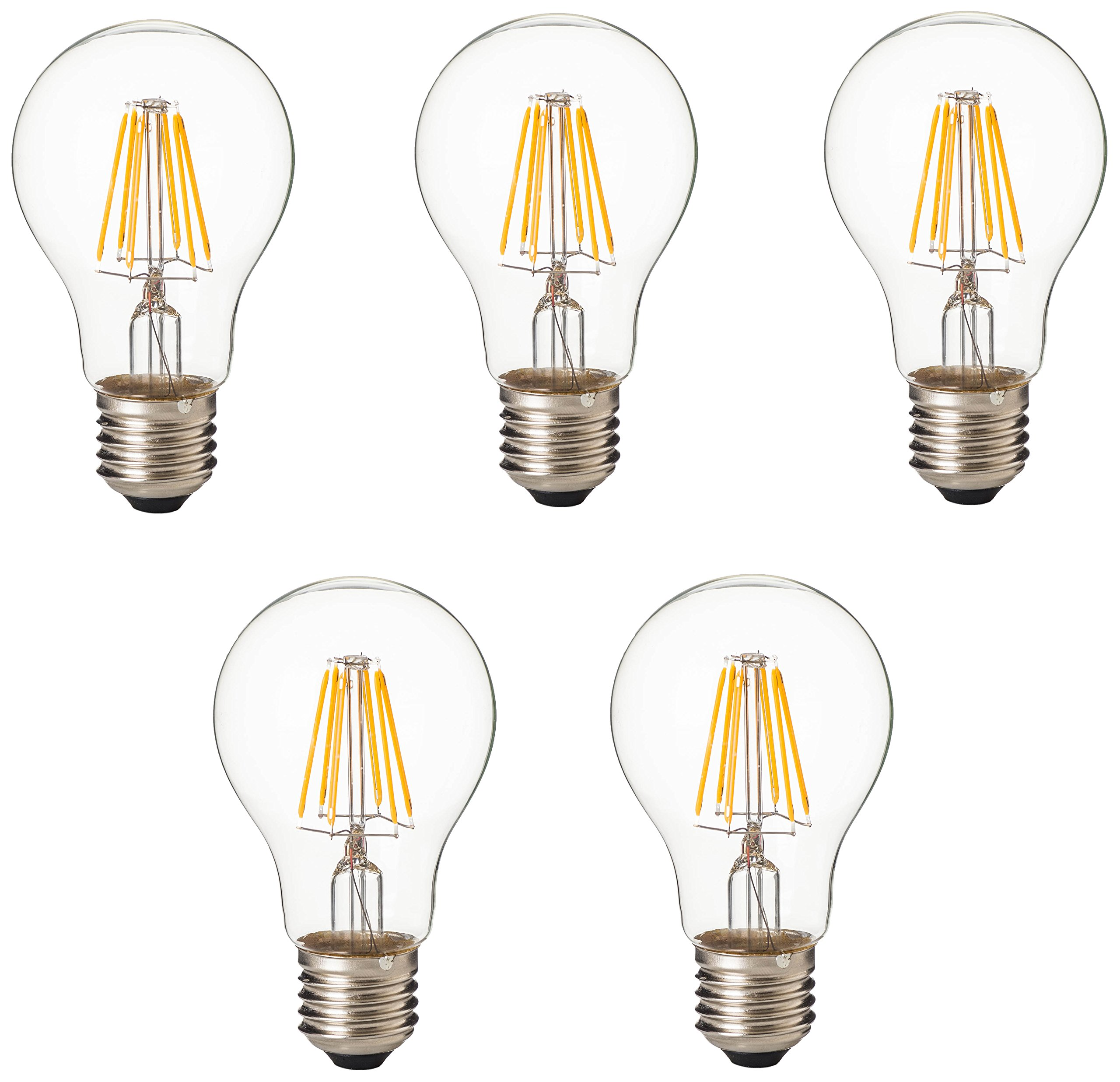 Artiva USA A21-12TDM-E26-27-5 LED Bulb 100W Replacement 12W Dimmable (5 Set), 12 W, Chrome