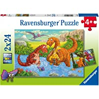 Ravensburger 50307 Puzzel Vrolijke Dino's - Twee Puzzels - 24 Stukjes - Kinderpuzzel