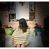 Bebebene - Full Nursing Cover Up - Also use as Scarf or Car Seat Cover - Mustard and Ivory Stripe