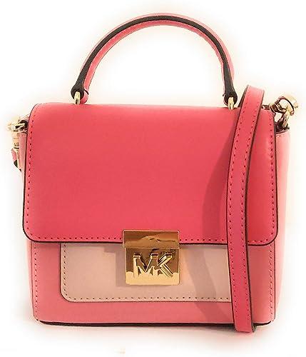 Michael Kors petit sac à main bandoulière mindy Rose 15x14x6cm ...