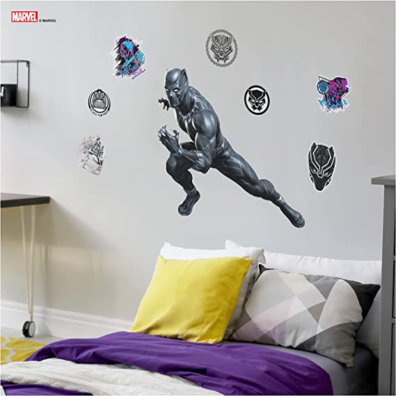 Black Panther Personalized Name Decal WALL STICKER Home Decor Mural Marvel WP69