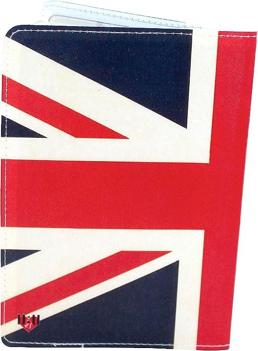 SLHFPX Passport Holder British Flag Passport Cover Case Wallet Credit Card Holder Storage Organizer for Men Women Kids Boys Girls Teen Youth