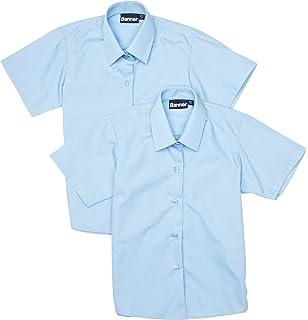 Blue Max Banner Girls Revere Twin Pack Short Sleeve School Blouse
