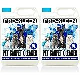 Pro-Kleen 2 x 5 Litres Pet Odour Remover Professional Concentrate Carpet Shampoo