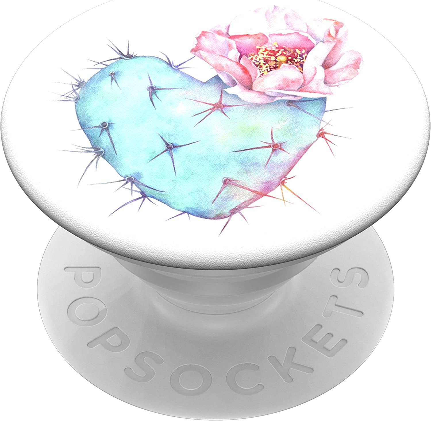 PopSockets PopGrip: Swappable Grip for Phones & Tablets - Succulent Heart