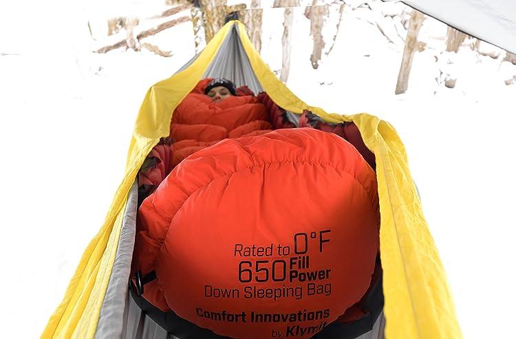 Klymit KSB 0 4 Season Water Resistant Down Mymmy Style Sleeping Bag