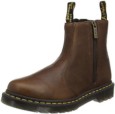 Dr. Martens Damen 2976 W/Zips Chelsea Boots, Braun (Dark Brown Grizzly