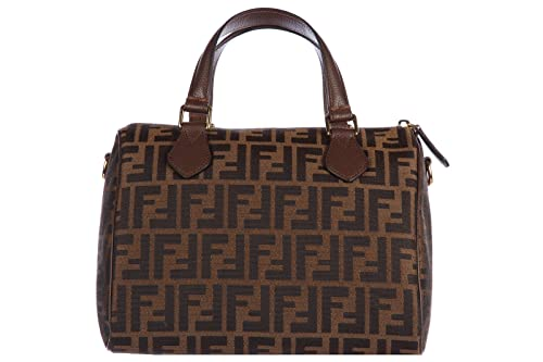 db8aa61b38 Image Unavailable. Image not available for. Colour: Fendi Jacquard Bauletto  Zucca Boston Bag ...