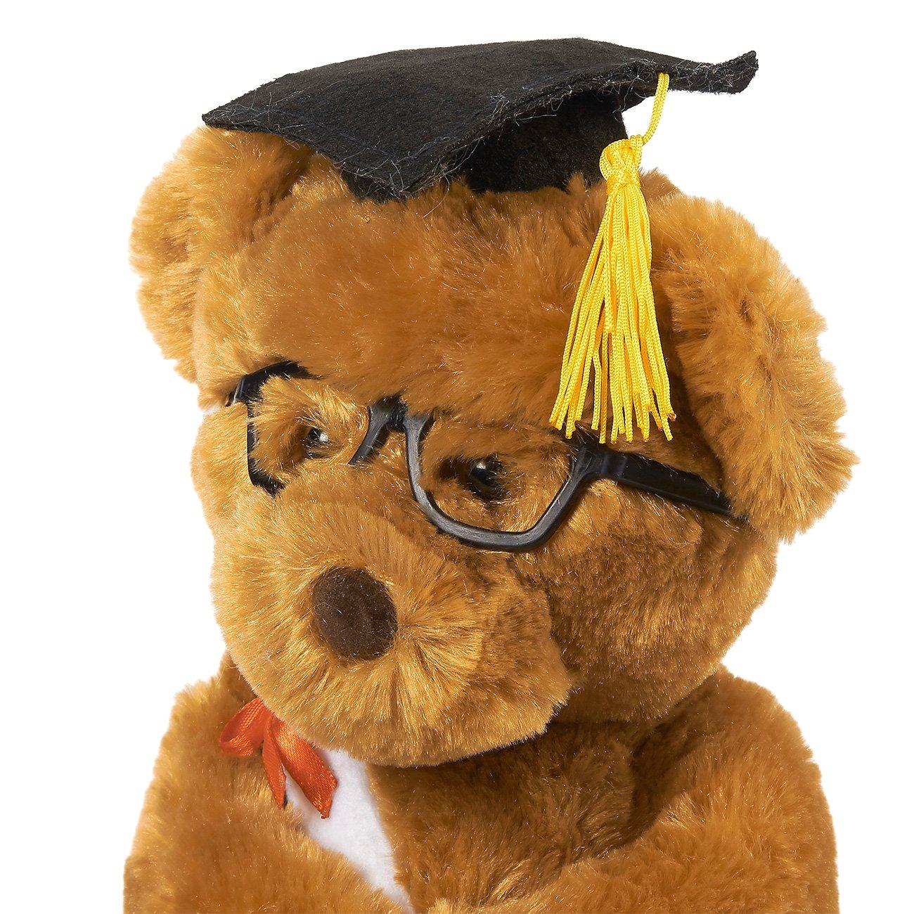 66ddbf3fc39 Amazon.com  Blue Panda Graduation Plush Bear - Stuffed Animal Louie The Teddy  Bear with Glasses