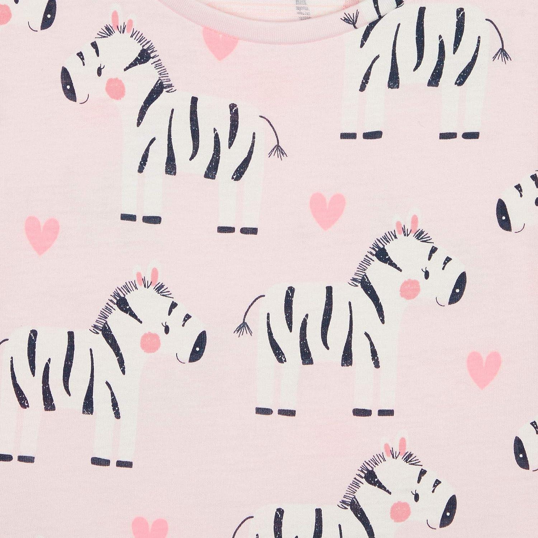 bluezoo Kids Girls Pink Zebra Jersey Dress
