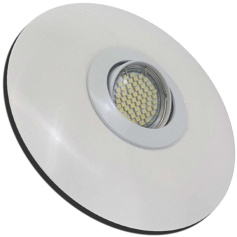 4 Stück SMD LED Einbaustrahler Big Linus 230 Volt 5 Watt Step Dimmbar Schwenkbar Weiß Neutralweiß