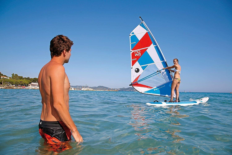 BIC Sport Tough-Tec Beach Windsurfer, White/Blue, 225D