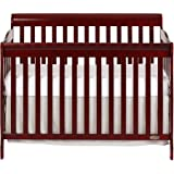 Dream On Me Ashton 5-in-1 Convertible Crib in Cherry, Greenguard Gold Certified