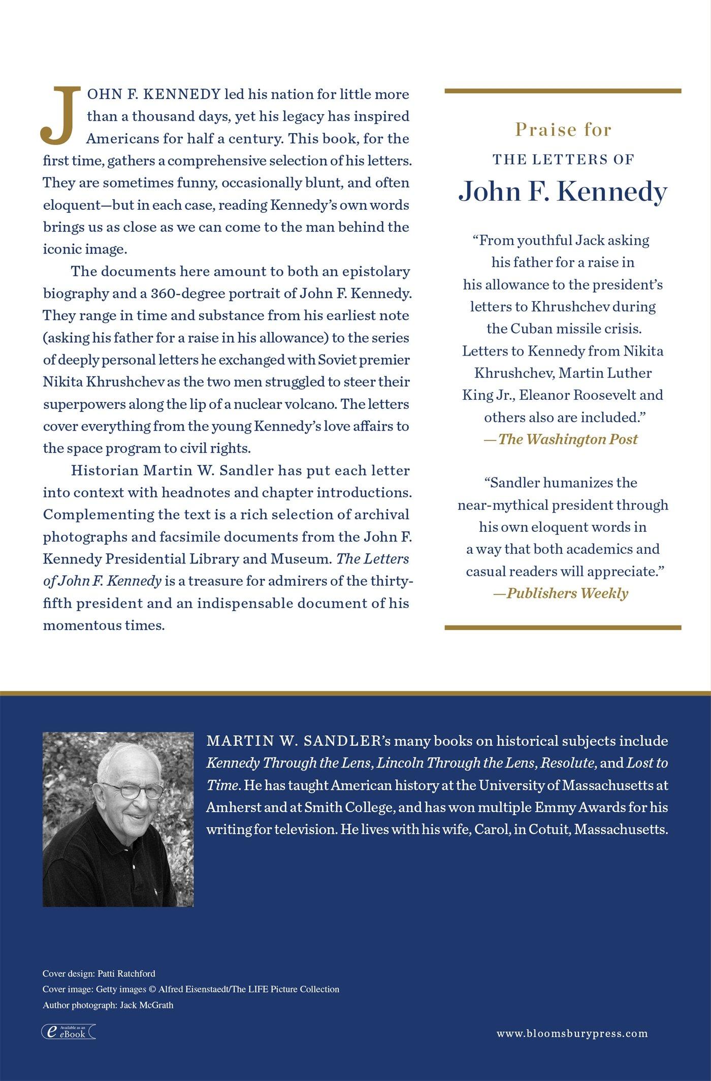 Amazon: The Letters Of John F Kennedy (9781608193523): John F Kennedy,  Martin W Sandler: Books