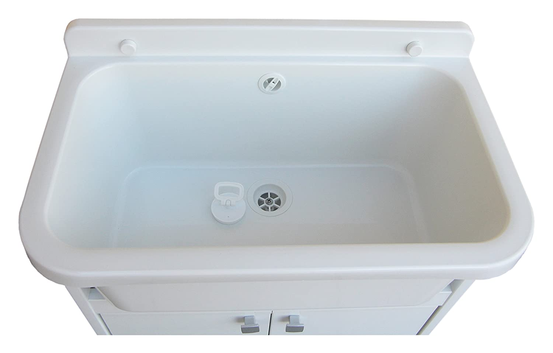 Lavello Da Giardino In Plastica : Negrari pmc lavatoio salvaspazio in resina da esterno bianco