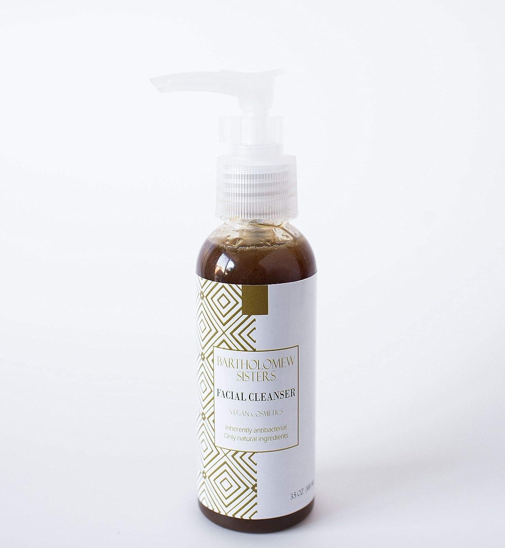 Handmade Natural Vegan Facial Cleanser - Black Soap with Tea Tree and Neem, 3.5 oz