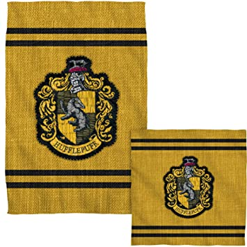 Harry Potter Hufflepuff diseño del escudo del toalla de Golf color blanco cara mano Combo: Amazon.es: Hogar