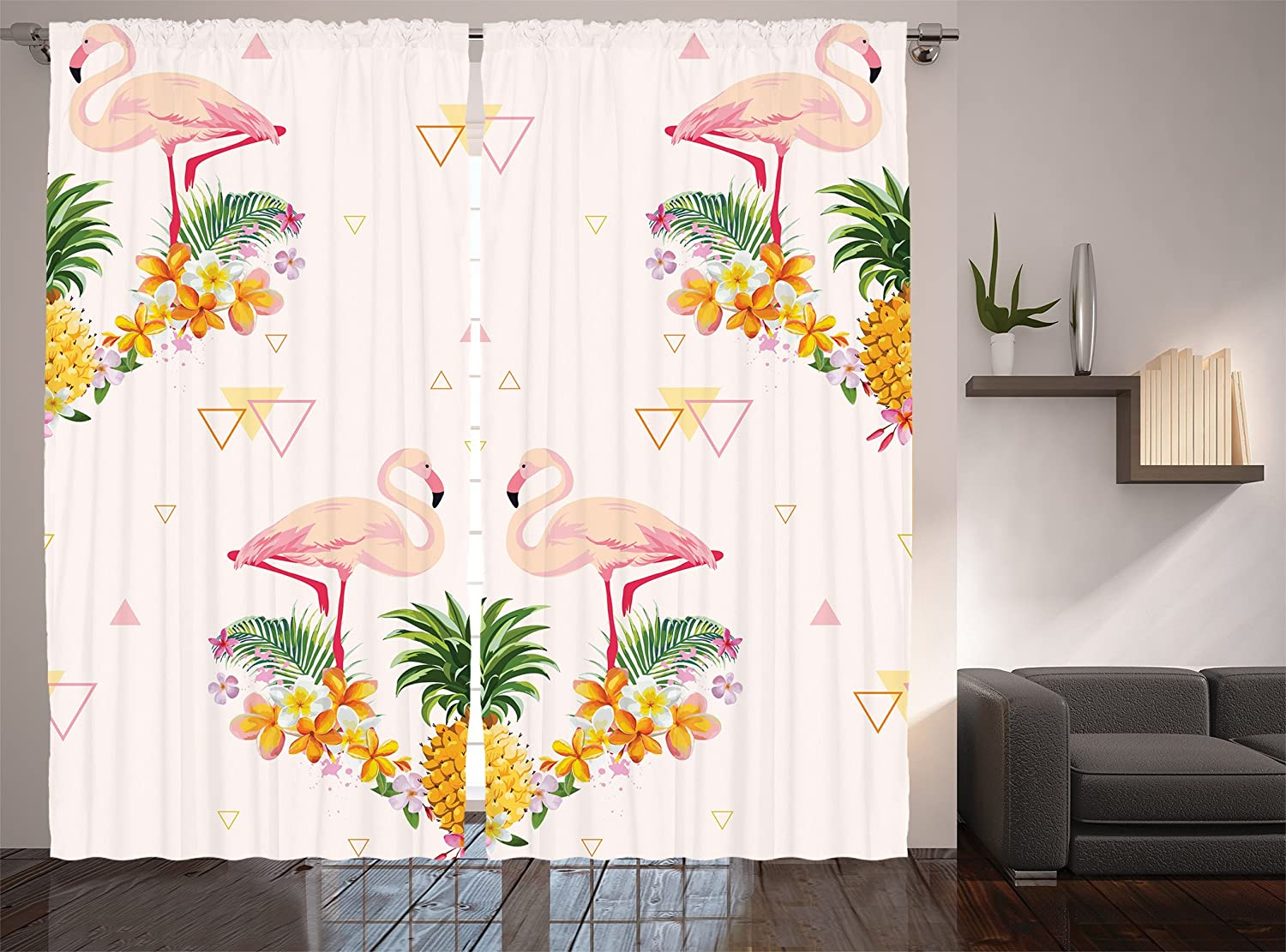 White Red Home Decor Concert Theatre Stage Drapes Silver Gold Cafe Curtains for Dining Room Bedroom Living Kids and Teen Rooms Modern Art Pictures Two Panels Set 108 X 84 Inches Long Curtains