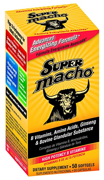 Super Macho® Softgels 50s/Dietary Supplement with B Vitamins (Made in USA)