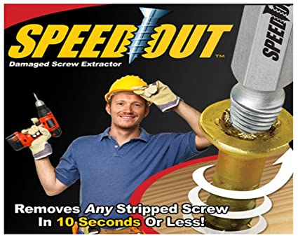 Unique Gadget Speed Out Damaged Screw Extractor 4 Piece Set For Any Size Screw OR Bolt - SOUT21