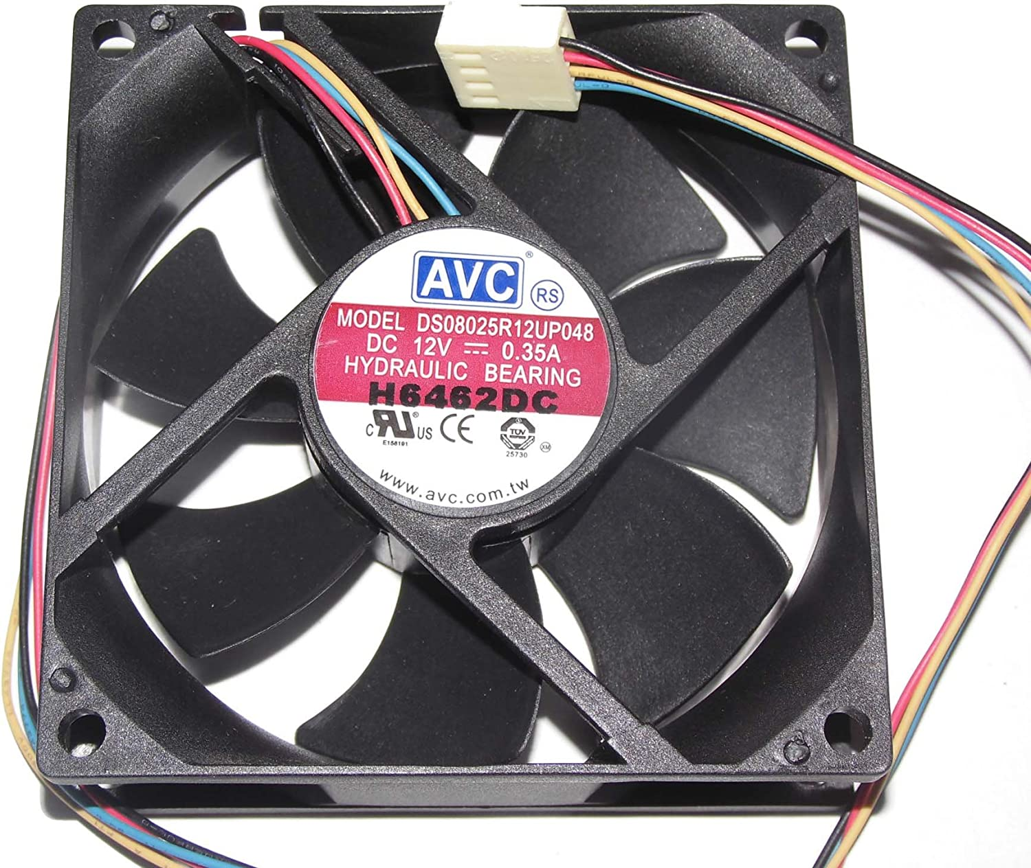 for  AVC DS08025R12UP048 8025 DC12V 0.35A 8 cm cooling fan