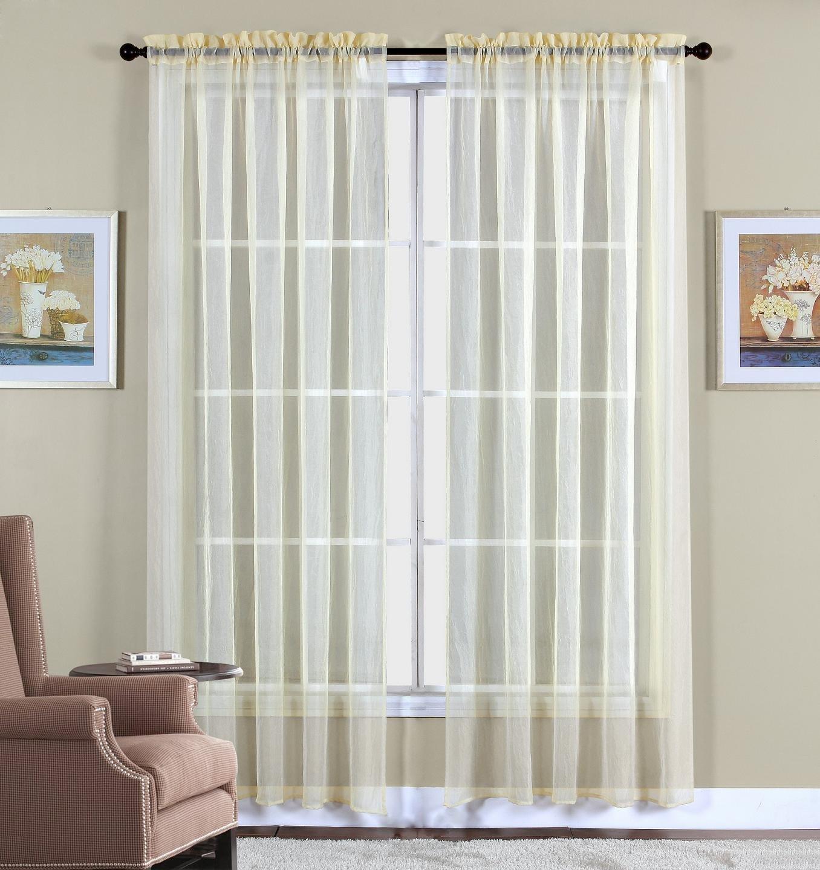 60 X 63 2 Beige Elegant Window Panels Treatments Sheers Curtains