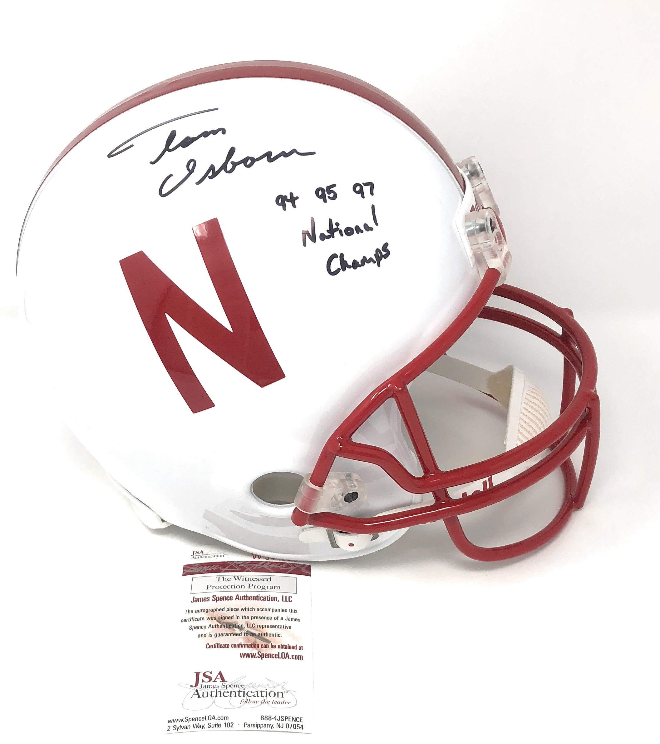 Tom Osborne Nebraska Cornhuskers Signed Autograph Full Size Helmet MULTI INSCRIBED JSA Witnessed Certified