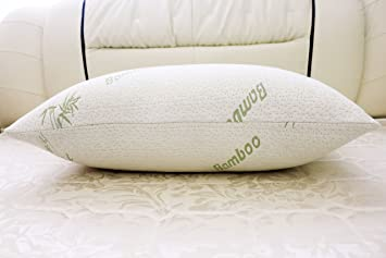 jan butterfly bamboo shredded memory foam pillow with removable washable vented bamboo cover