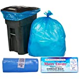 Maitri Eviro OXO Biodegradable Garbage Bag Roll (Medium , 17 x 20 Inch , Blue) Pack of 3 , 90 Bags