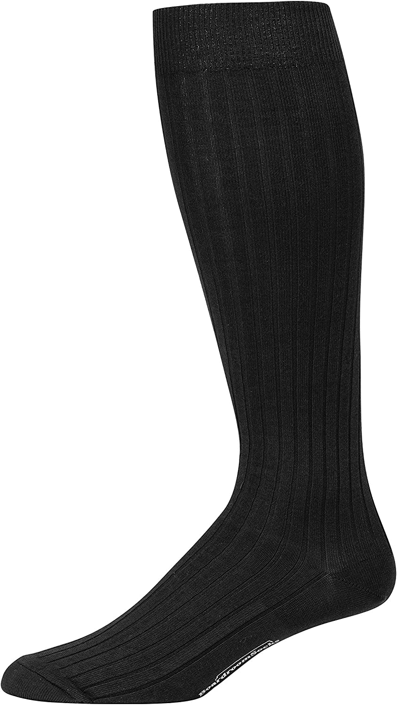 Boardroom Socks Men's Over the Calf Pima Cotton Dress Socks