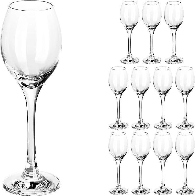 Schnapsgläser Grappa Gläser Glas aus bleifreiem Kristallglas 6x Likörglas