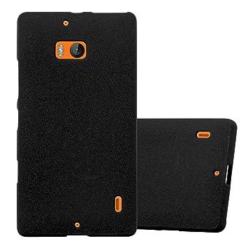 Cadorabo Funda para Nokia Lumia 929/930 en Frost Negro - Cubierta Proteccíon de Silicona TPU Delgada e Flexible con Antichoque - Gel Case Cover ...