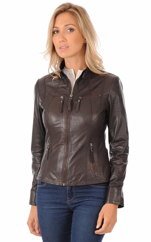 Leather Lifestyle Womens Lambskin Genuine Leather Jacket Slim Fit Biker Motorcycle Stylish Coat #WJ82
