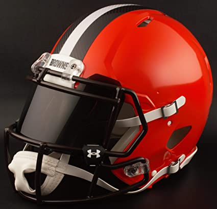 de008f82329 Image Unavailable. Image not available for. Color  Riddell Custom Cleveland  Browns Full Size NFL Speed Authentic Football Helmet
