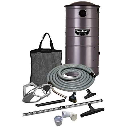 VacuMaid UV150GKP1 Extended Life Professional Wall Mounted Utility Vacuum with 50ft. Garage Kit Pro Unit and Kit Plus 1 Inlet