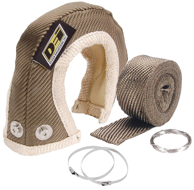 Design Engineering 010141 T3 Titanium Turbo Shield Kit Custom Fit Turbo Blanket 19 x 2.5