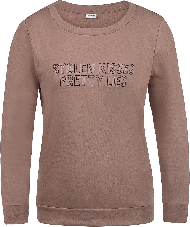 TALLA XS. Only Taylor Sudadera Suéter Jersey Corta para Mujer con Cuello Redondo con Forro Polar Suave Al Tacto
