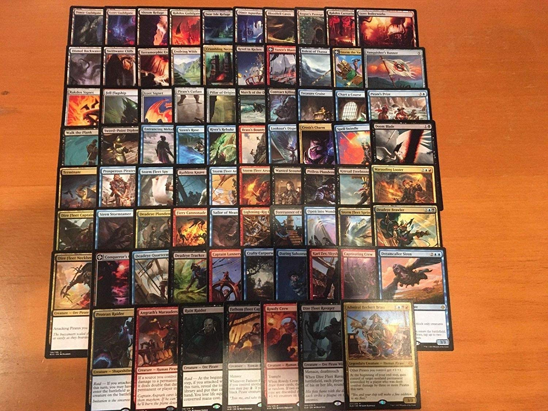 Pirate Commander Deck - Grixis - Custom Built - Elite - MTG - EDH - 100 Card