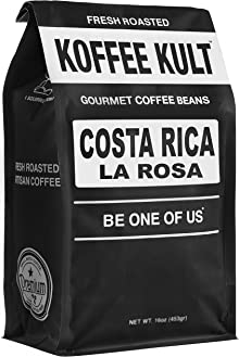 Costa Rico Coffee - Naranjo La Rosa - Medium Roast Coffee Beans Koffee Kult (12oz Whole Bean)
