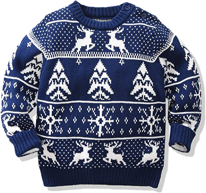 Amao Childrens Fireplace Lovely Ugly Sweater Pullover Jumper for Christmas Best Gift