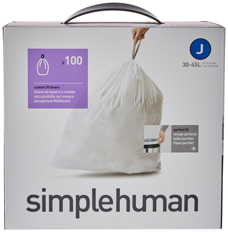 simplehuman code j sacs poubelle sur mesure 100 sacs poubelle 30 40 litre ebay. Black Bedroom Furniture Sets. Home Design Ideas