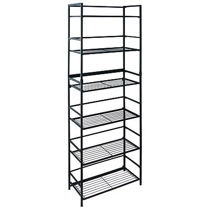 Amazon.com : Flipshelf-Folding Metal Bookcase-Small Space Solution ...