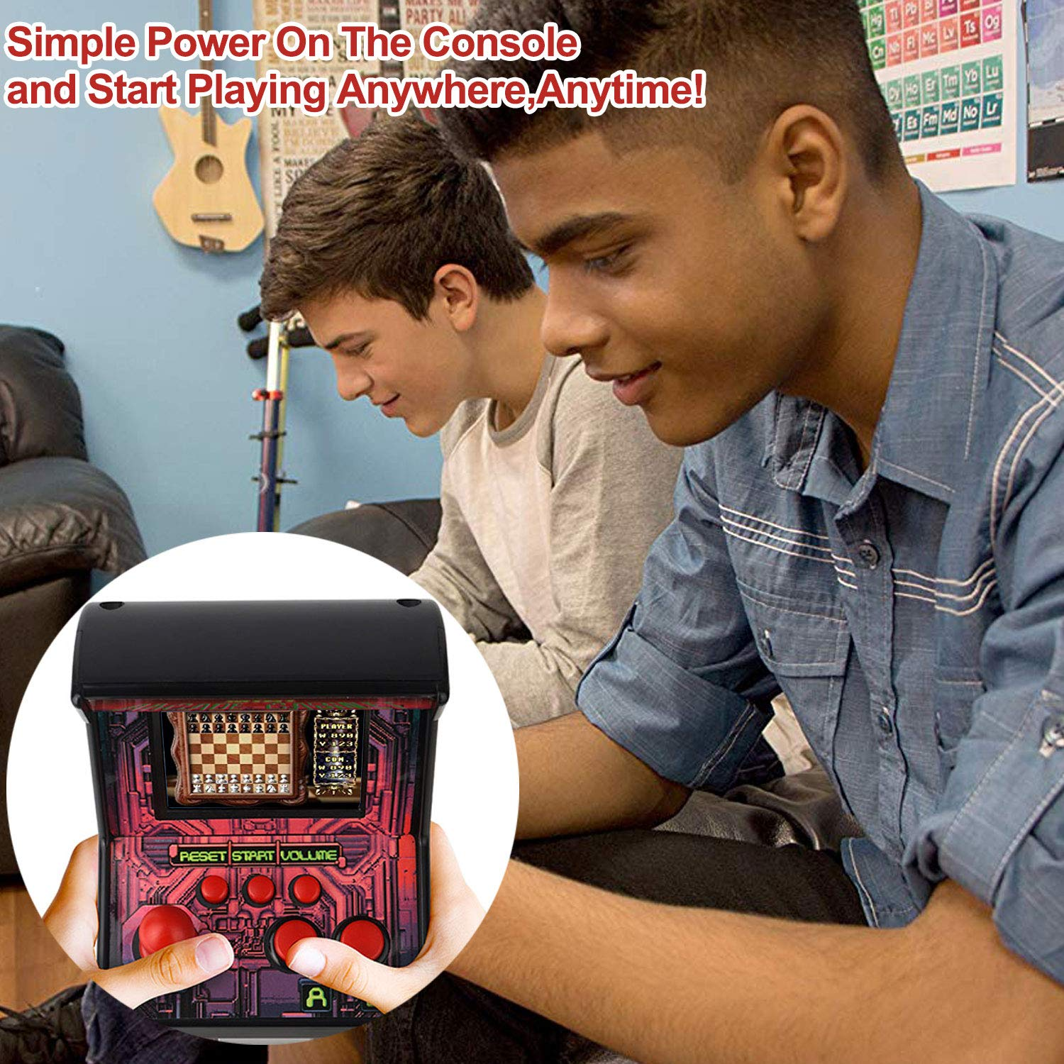 GBD Kids Mini Retro Arcade Game Cabinet Machine 200 Classic Handheld Video Games 2.5'' Display Joystick Travel Portable Game Player Kids Boys Girls Holiday Birthday Gifts Electronic Toys by GBD (Image #7)
