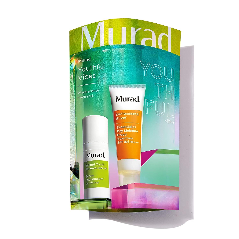 Murad Youthful Vibes | Retinol Serum + Essential-C Day Moisture SPF 30 | 2-piece set