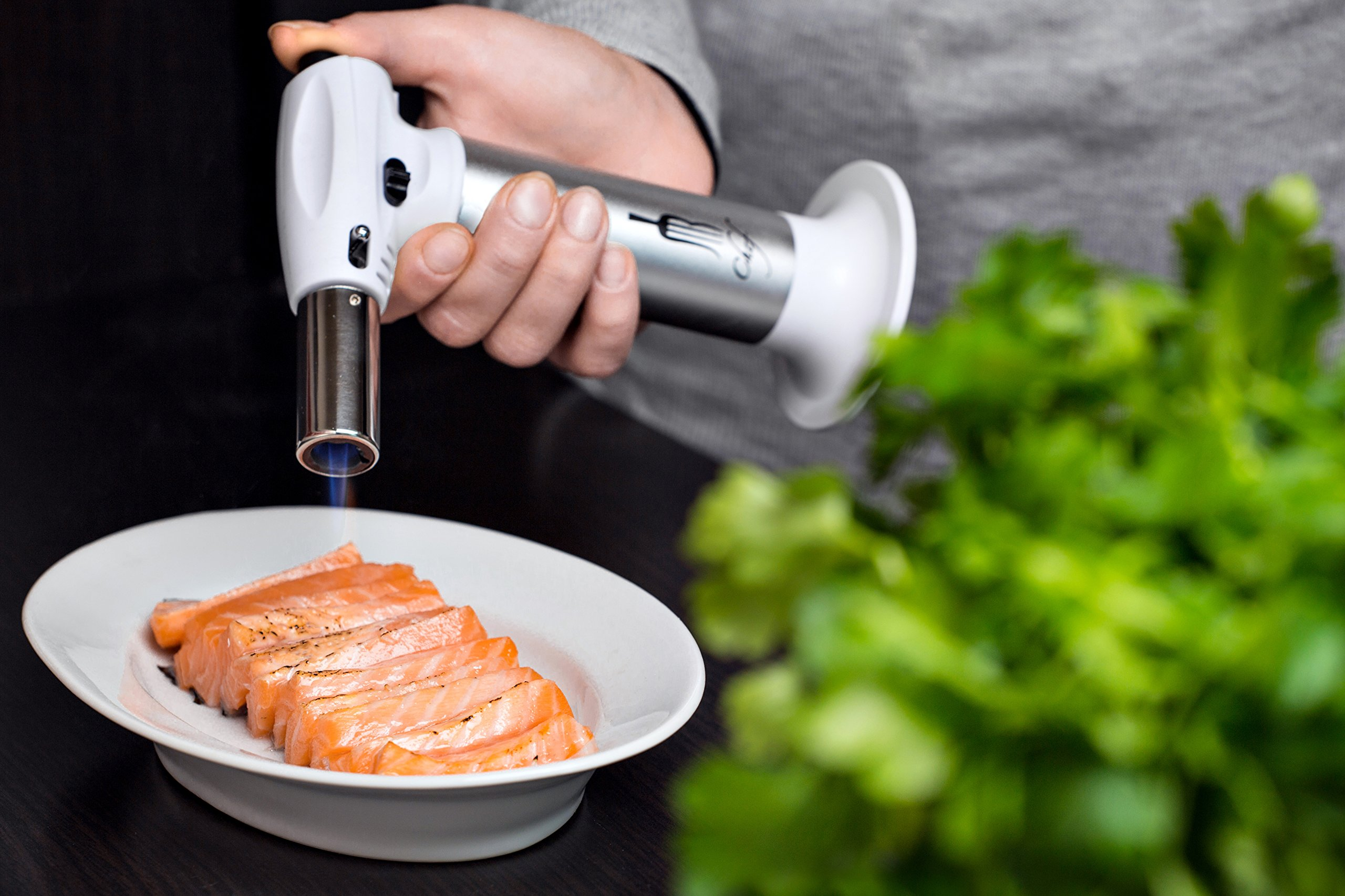 JB Chef Culinary Micro Butane Torch | Mini Torch Lighter Cooking Kitchen Blow Torch With Safety Lock & Adjustable Flame | Small Cigar Torch Lighter For Crème Brûlée, Soldering, Welding Torch & More by JB Chef (Image #5)