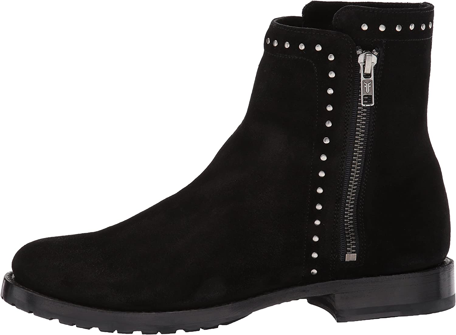 Frye Womens Nora Stud Short Inside Zip Boot