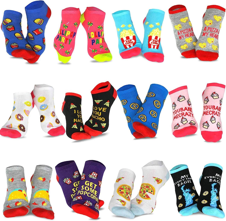 TeeHee Men's and Women's Fashion No Show/Low cut Fun Socks Great Value Pack