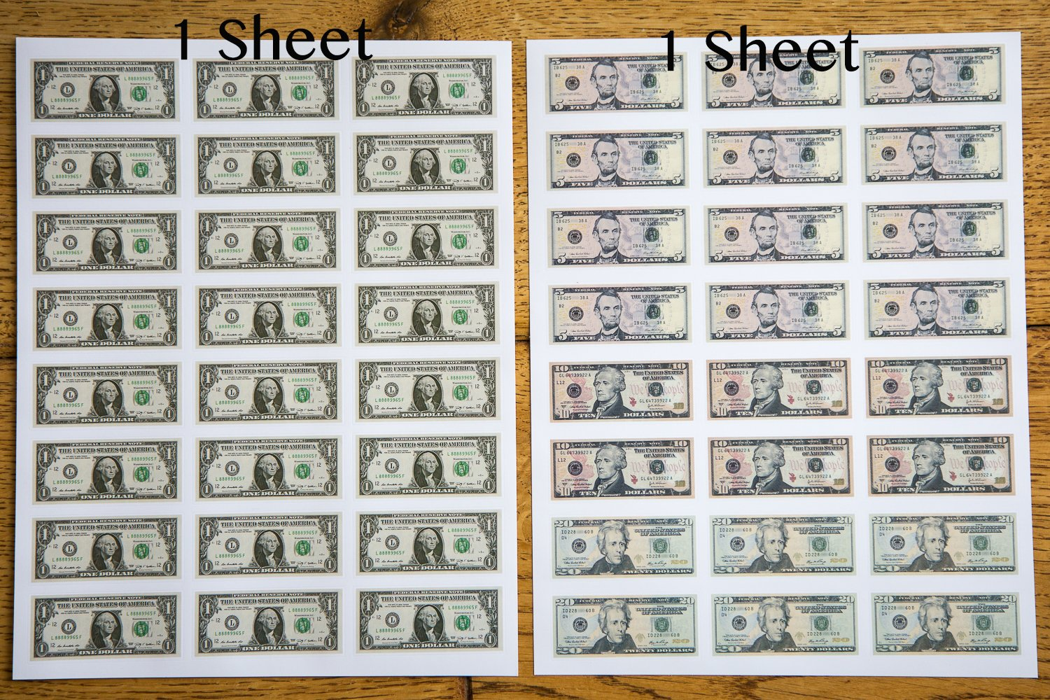 1038 Pieces U.S. Coin & Currency Stickers | For Classroom & Home Use | Extra Strong Adhesive | Realistic Size | 14 Total Sheets | By PureBloom Products by PureBloom Products (Image #9)