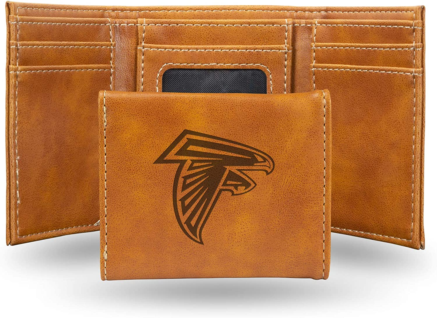 Atlanta Falcons NFL Rico Industries  Laser Engraved Trifold Wallet